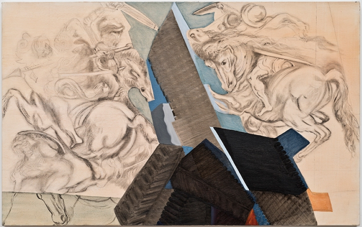 Susan Lizotte: Anghiari (charcoal and oil on canvas, 30 x 48 inches). Photo: Alan Shaffer