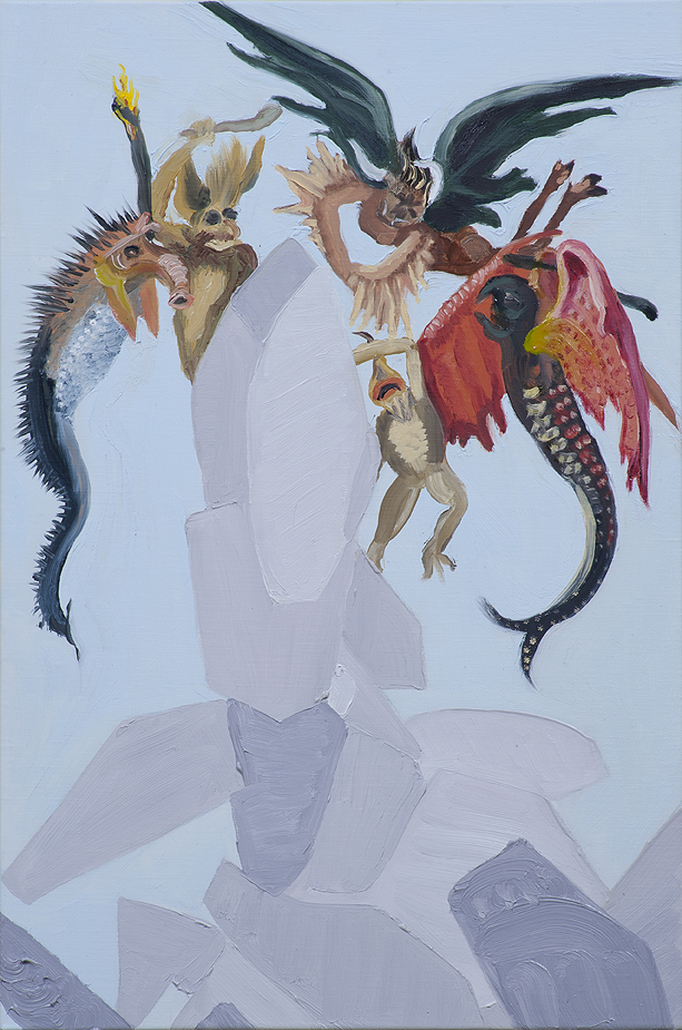 """Susan Lizotte: Small Devils"""" (oil on linen, 18.5 x 12 inches). Photo: Alan Shaffer"""