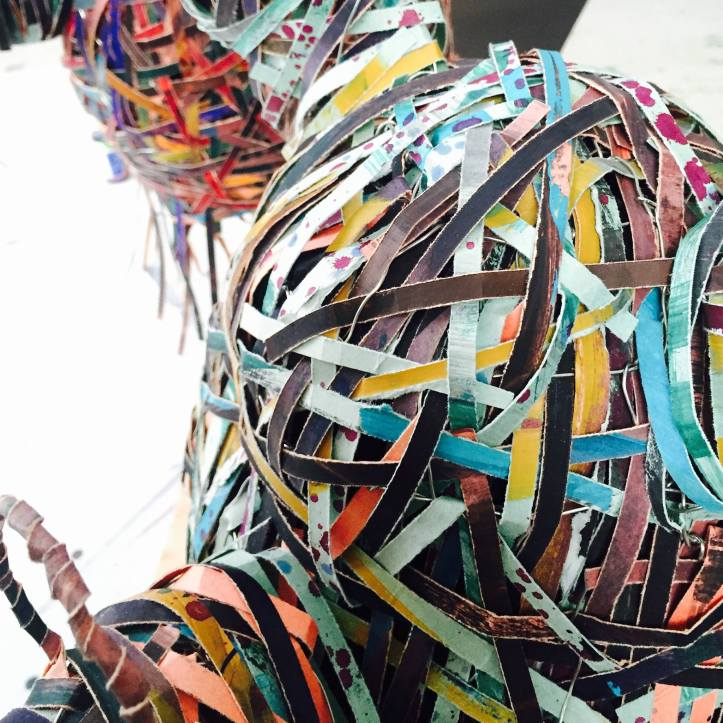 """Diane Williams """"Monsters & Aliens"""" detail of an installation"""