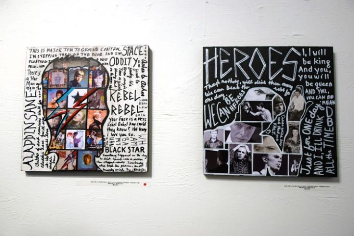 """Cratedigger"" at Gabba Gallery. Work by Kate Carvellas. (Photo credit: Kristine Schomaker)"