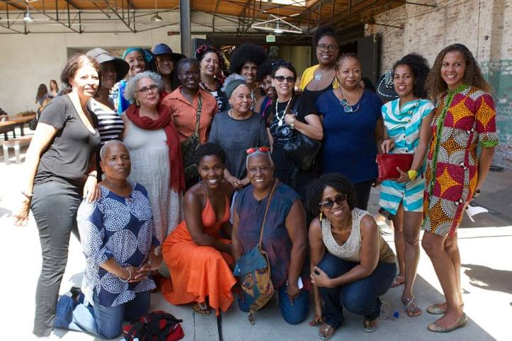Noni Olabisi, Alison Saar, Janet E. Dandridge, Betye Saar, Lili Bernard, Karen Hampton, Lisa Diane Wedgeworth, June Edmonds and Lisa C Soto, Now Be Here ©2016, Photo credit- Rouzanna Berberian, All rights reserved