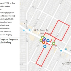 Activities_Mural Map ©2016 Hidden HiFi, Gabba Gallery