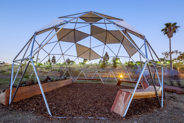 """Chris Kallmyer, """"New Weather Station,"""" 2016, photo by Panic Studio LA, courtesy of the City of Los Angeles Department of Cultural Affairs."""