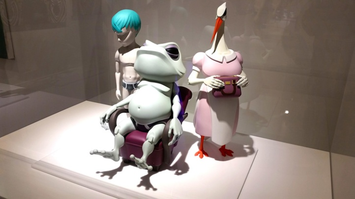This unusual frog from artists Mark Landwehr and Sven Waschk was on display at Coarse Studios. (Photo credit Patrick Quinn)