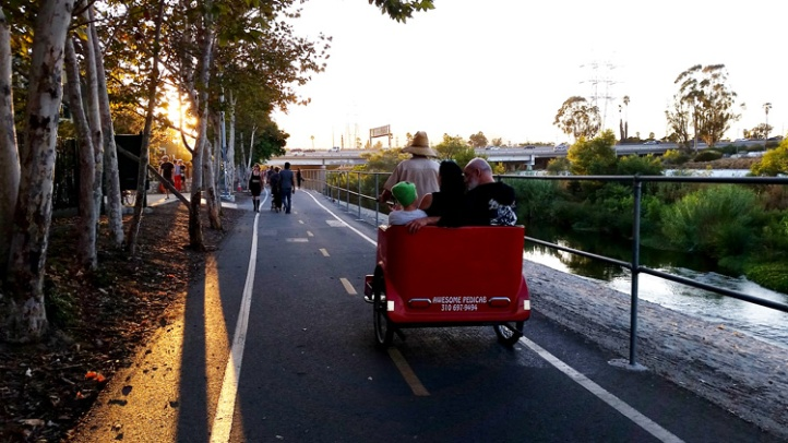If you didn't feel like walking, there were free Pedicabs available. (Photo credit Patrick Quinn)