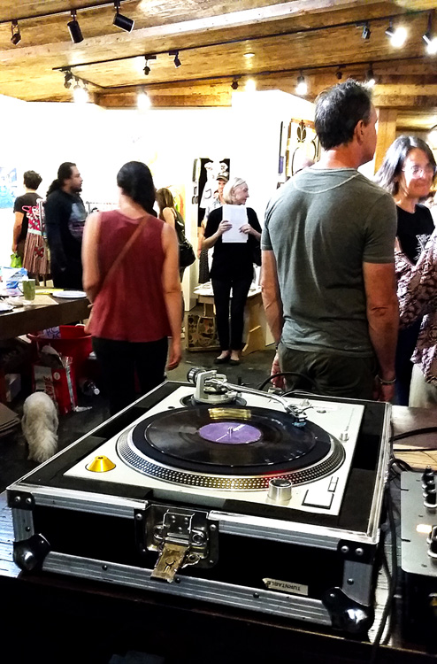 It was a full house at Cactus Gallery with work by numerous artists including Joe Alvarez and Susan Amorde. (Photo credit Patrick Quinn)