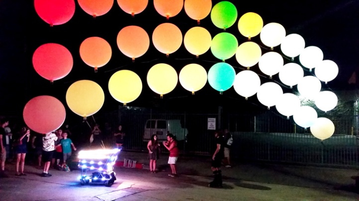A collaborative light installation by Light Riders and Creative Campus. (Photo credit Patrick Quinn)