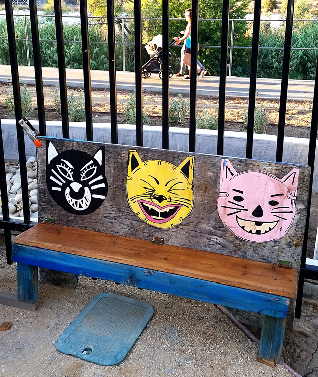 Perfect weather for art, a stroll along the river, and cats. (Photo credit Patrick Quinn)