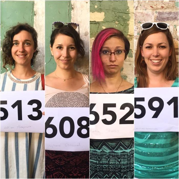 Allison Honeycutt, Stephanie Sherwood, Katie Shanks, Christine Rasmussen, Now Be Here ©2016, Photo credit- Stephanie Sherwood, All rights reserved