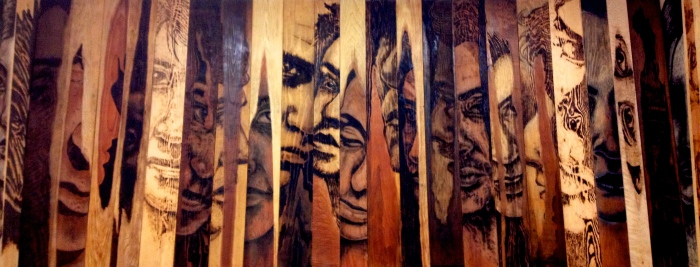 Zachary Aronson, Conversations Pyrographs, photo courtesy of the artist