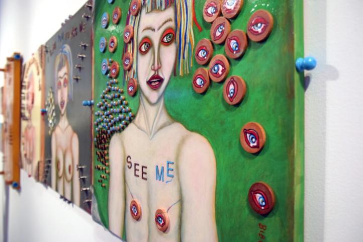 "Bibi Davidson. ""Fantastic Feminist Figuration"" at Groundspace Project. Photo Credit Kristine Schomaker"