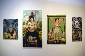 "Tslil Tsemet. ""Fantastic Feminist Figuration"" at Groundspace Project. Photo Credit Kristine Schomaker"