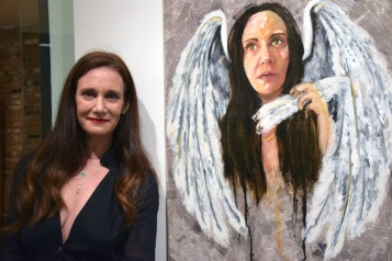 Lydia Emily. The Face of Survival. Garboushian Gallery. Photo credit Kristine Schomaker