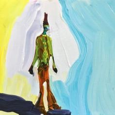 "Painting by Edith Beaucage - Title: ""Janki Guksu"" - Photos courtesy of Luis De Jesus Gallery"