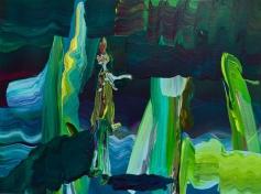 """Painting by Edith Beaucage - Title: """"Piper Bio Decibel"""" - Photos courtesy of Luis De Jesus Gallery"""