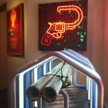 GUNS. Loft at Liz's. Photo Courtesy ©Osceola Refetoff - ospix