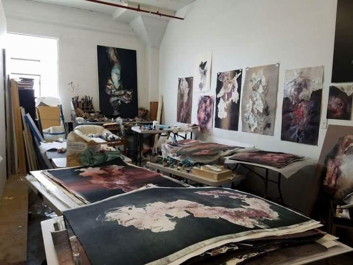 Kim Kei art studio. Los Angeles California. Photo Credit Kristine Schomaker