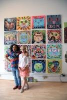 Anna Stump and Ted Meyer. Brewery Artwalk 2016