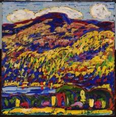 Marsden Hartley (1877-1943) Mountain Lake—Autumn, c. 1910. Photo Courtesy Orange County Museum of Art