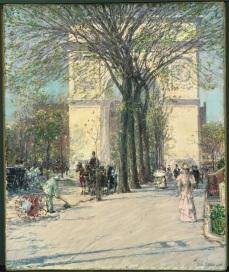 Childe Hassam (1859-1935) Washington Arch, Spring, 1890. Photo Courtesy Orange County Museum of Art