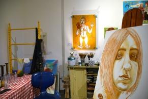 Bibi Davidson. Inglewood Open Studios. Photo Credit Kristine Schomaker