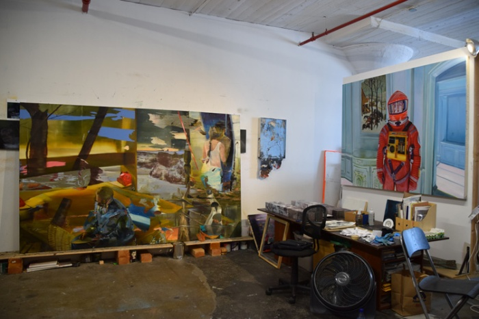 Josh Hagler's Studio in the Arts District, DTLA. Photo Credit Kristine Schomaker