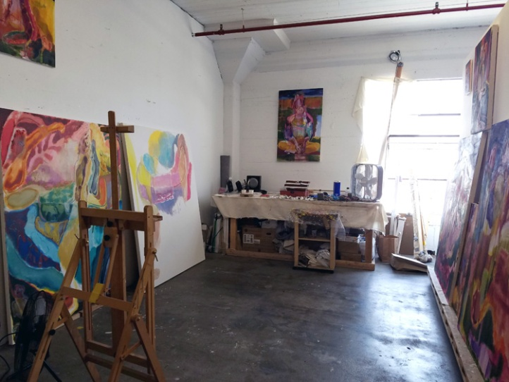 Maja Ružnić's Studio in the Arts District, DTLA. Photo Credit Kristine Schomaker