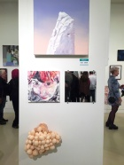 Sonja Schenk, Sheli Silverio,Carolyn Applegate. Final MAS Attack at the Torrance Art Museum. Photo Credit Diane Williams