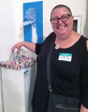 Kristine Schomaker. Final MAS Attack at the Torrance Art Museum. Photo Credit Diane Williams