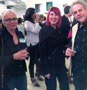 Malka Nedivi, Bibi Davidson and Robert Soffian. Final MAS Attack at the Torrance Art Museum. Photo Credit Diane Williams