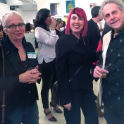 Malka Nedivi, Bibi Davidson and Robert Soffian. Final MAS Attack at the Torrance Art Museum. Photo Credit Diane Williams