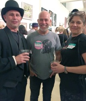 Todd Szabo, Rick Dallago and Jane Szabo. Final MAS Attack at the Torrance Art Museum. Photo Credit Diane Williams