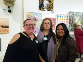 Kristine Schomaker, Chenhung Chen, Diane Williams. Final MAS Attack at the Torrance Art Museum. Photo Credit Kristine Schomaker