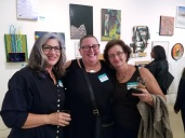 Susan T. Kurland, Kristine Schomaker, Nurit Avesar. Final MAS Attack at the Torrance Art Museum. Photo Credit Kristine Schomaker