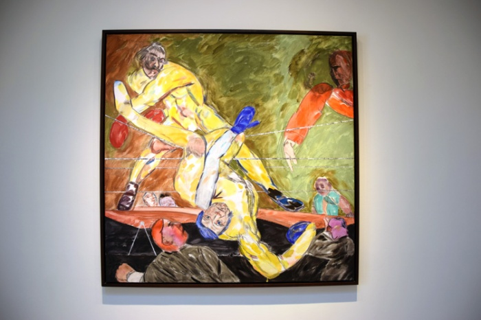 R.B. Kitaj - Photo by Kristine Schomaker at L.A. Louver Gallery.