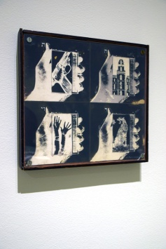 Wallace Berman - Photo by Kristine Schomaker at L.A. Louver Gallery.