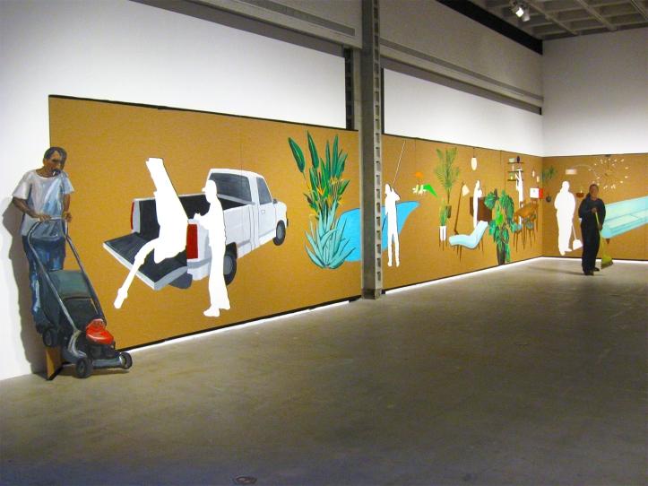 "Ramiro Gomez ""Cut-Outs"" ""S/Election Show"" Los Angeles Municipal Art Gallery Photo Credit Patrick Quinn"