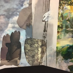 """Detail of """"A Play""""Annie Lapin at Honor Fraser. Photo by Shana Nys Dambrot"""