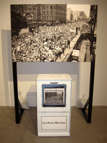 "Neil Clavo Rivas ""Las Gran Marchas (Revisited)"" ""S/Election Show"" Los Angeles Municipal Art Gallery Photo Credit Patrick Quinn"