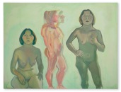 Maria Lassnig Dreifaches Selbtsporträt / New Self (Triple Self-Portrait / New Self) 1972 Oil on canvas 173 x 230 cm / 68 1/8 x 90 1/2 in © Maria Lassnig Foundation Courtesy Hauser & Wirth