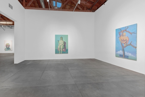© Maria Lassnig Foundation Courtesy Hauser & Wirth Installation view, 'Maria Lassnig. A Painting Survey, 1950 – 2007' Hauser Wirth & Schimmel, 2016 Photo: JR Doty