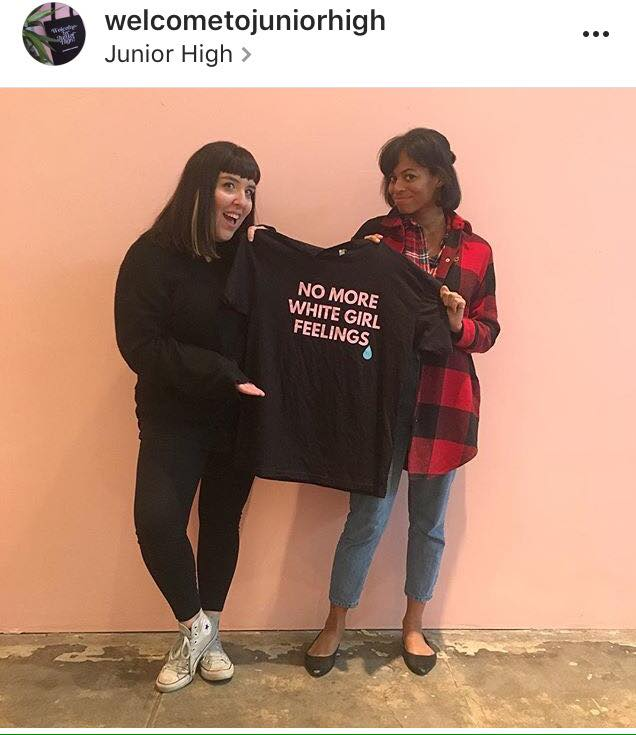 Martiza Lugo and Erika Paget. MissRepresentation at Junior High. Photo Courtesy the artist