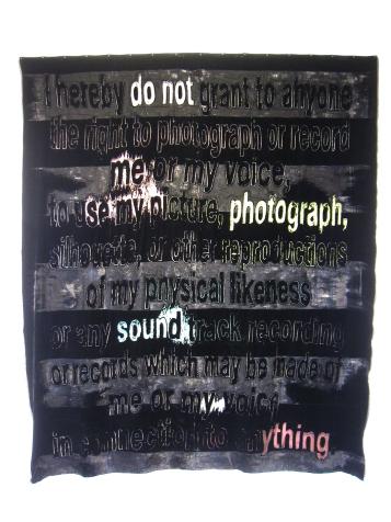 "Mara Lonner ""Privacy Burnout"" ""S/Election Show"" Los Angeles Municipal Art Gallery Photo Credit Patrick Quinn"