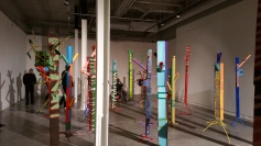 """""""Pulling The Forest Along The Road"""" Grand Central Art Center Installation View Photo Credit Lisa Lo Russo"""