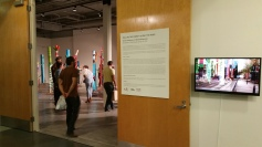 """""""Pulling The Forest Along The Road"""" Grand Central Art Center Opening Night Photo Credit Lisa Lo Russo"""