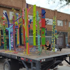"""Pulling The Forest Along The Road"" Grand Central Art Center Santa Ana Photo Credit Lisa Lo Russo"