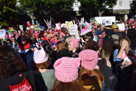 Women's March Los Angeles January 21, 2017. Photo Credit Kristine schomaker