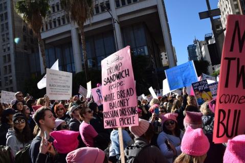 Women's March Los Angeles January 21, 2017. Photo Credit Kristine schomaker