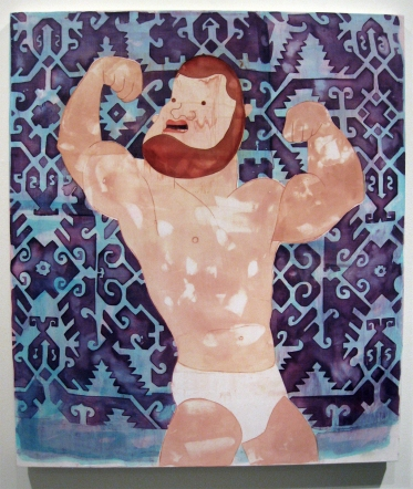 """""""Daddy's Boy"""" Yes, Please, and Thank You Projects: New Paintings by Orkideh Torabi Photo Credit Patrick Quinn"""