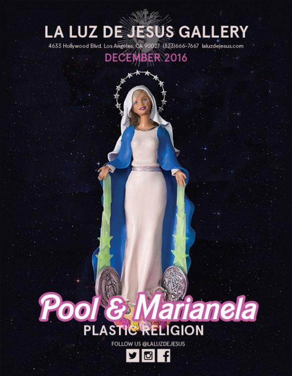 """Plastic Religion""at La Luz De Jesus ""Pool & Marlanela"" Photo Courtesy of La Luz De Jesus"